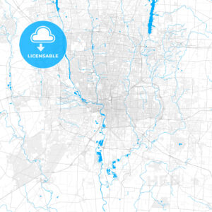 Rich detailed vector map of Columbus, Ohio, U.S.A. - HEBSTREITS Sketches