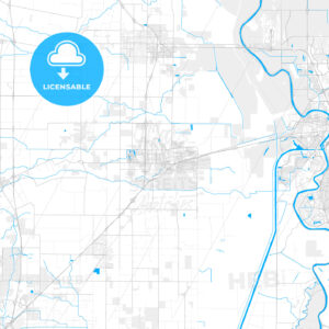 Rich detailed vector map of Davis, California, USA - HEBSTREITS Sketches