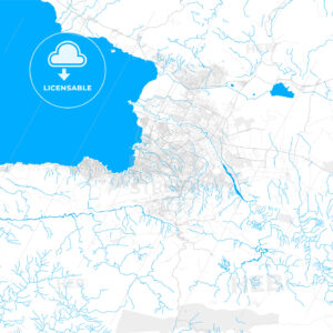 Rich detailed vector map of Delmas, Ouest, Haiti - HEBSTREITS Sketches