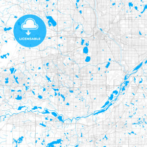 Rich detailed vector map of Edina, Minnesota, United States of America - HEBSTREITS Sketches