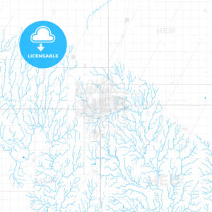Rich detailed vector map of Enid, Oklahoma, United States of America - HEBSTREITS Sketches