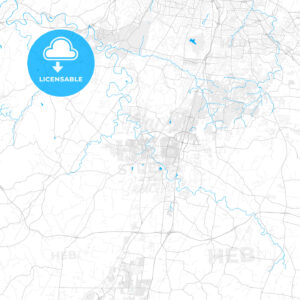 Rich detailed vector map of Franklin, Tennessee, USA - HEBSTREITS Sketches