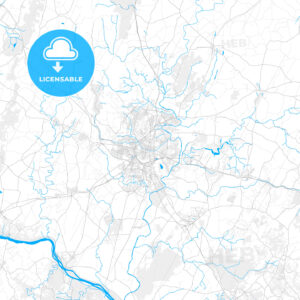 Rich detailed vector map of Frederick, Maryland, USA - HEBSTREITS Sketches