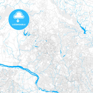 Rich detailed vector map of Gaithersburg, Maryland, USA - HEBSTREITS Sketches