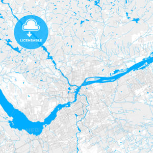 Rich detailed vector map of Gatineau, Quebec, Canada - HEBSTREITS Sketches