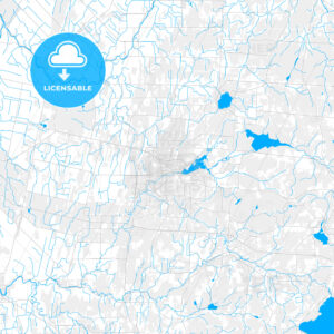 Rich detailed vector map of Granby, Quebec, Canada - HEBSTREITS Sketches