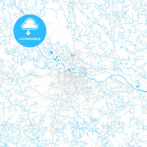 Rich detailed vector map of Greenville, North Carolina, USA - HEBSTREITS Sketches