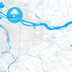 Rich detailed vector map of Gresham, Oregon, USA - HEBSTREITS Sketches