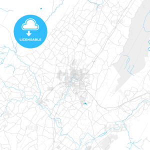 Rich detailed vector map of Harrisonburg, Virginia, United States of America - HEBSTREITS Sketches