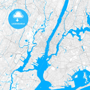 Rich detailed vector map of Hoboken, New Jersey, USA - HEBSTREITS Sketches