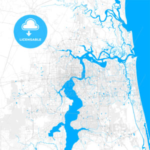 Rich detailed vector map of Jacksonville, Florida, U.S.A. - HEBSTREITS Sketches