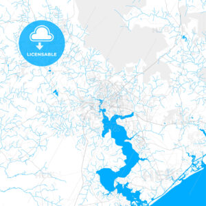 Rich detailed vector map of Jacksonville, North Carolina, USA - HEBSTREITS Sketches