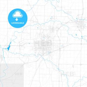 Rich detailed vector map of Joplin, Missouri, United States of America - HEBSTREITS Sketches