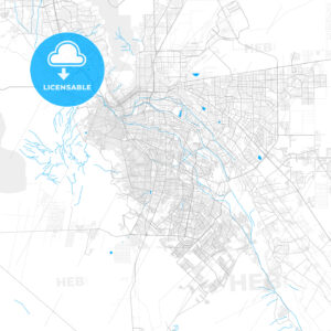 Rich detailed vector map of Juárez, Chihuahua, Mexico - HEBSTREITS Sketches