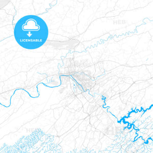 Rich detailed vector map of Kingsport, Tennessee, United States of America - HEBSTREITS Sketches