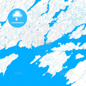 Rich detailed vector map of Kingston, Ontario, Canada - HEBSTREITS Sketches