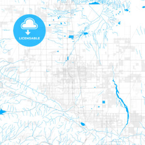 Rich detailed vector map of Lancaster, California, USA - HEBSTREITS Sketches