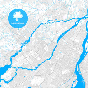 Rich detailed vector map of Laval, Quebec, Canada - HEBSTREITS Sketches