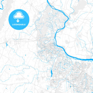 Rich detailed vector map of Leesburg, Virginia, United States of America - HEBSTREITS Sketches