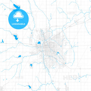 Rich detailed vector map of Lincoln, Nebraska, U.S.A. - HEBSTREITS Sketches