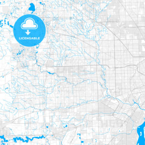 Rich detailed vector map of Livonia, Michigan, USA - HEBSTREITS Sketches