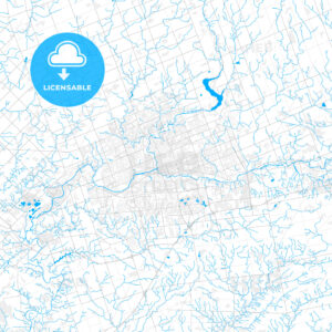 Rich detailed vector map of London, Ontario, Canada - HEBSTREITS Sketches