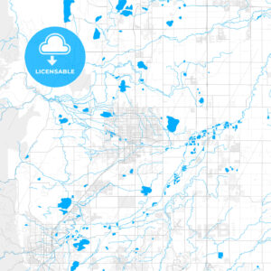 Rich detailed vector map of Longmont, Colorado, USA - HEBSTREITS Sketches