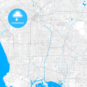 Rich detailed vector map of Lynwood, California, USA - HEBSTREITS Sketches