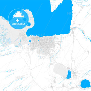Rich detailed vector map of Managua, Managua, Nicaragua - HEBSTREITS Sketches