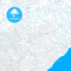 Rich detailed vector map of Markham, Ontario, Canada - HEBSTREITS Sketches