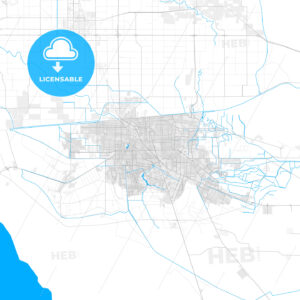 Rich detailed vector map of Mexicali, Baja California, Mexico - HEBSTREITS Sketches