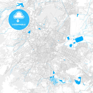 Rich detailed vector map of Mexico City, Mexico City, Mexico - HEBSTREITS Sketches