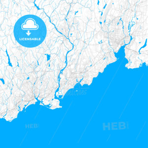 Rich detailed vector map of Milford, Connecticut, United States of America - HEBSTREITS Sketches