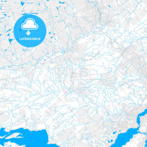 Rich detailed vector map of Mirabel, Quebec, Canada - HEBSTREITS Sketches