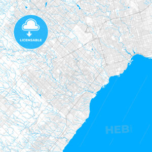 Rich detailed vector map of Mississauga, Ontario, Canada - HEBSTREITS Sketches