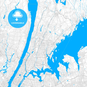 Rich detailed vector map of Mount Vernon, New York, USA - HEBSTREITS Sketches