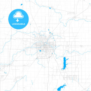 Rich detailed vector map of Muncie, Indiana, USA - HEBSTREITS Sketches