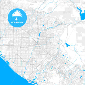 Rich detailed vector map of Orange, California, USA - HEBSTREITS Sketches