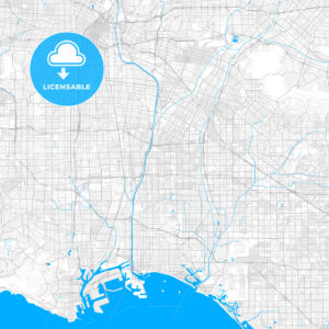 Rich detailed vector map of Paramount, California, USA - HEBSTREITS Sketches