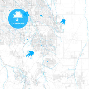 Rich detailed vector map of Parker, Colorado, United States of America - HEBSTREITS Sketches