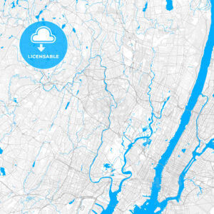 Rich detailed vector map of Passaic, New Jersey, USA - HEBSTREITS Sketches