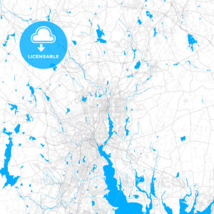 Rich detailed vector map of Pawtucket, Rhode Island, USA - HEBSTREITS Sketches
