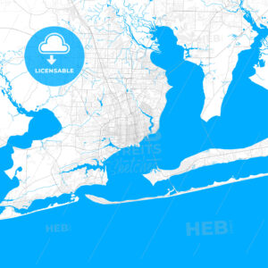 Rich detailed vector map of Pensacola, Florida, United States of America - HEBSTREITS Sketches