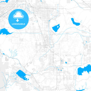 Rich detailed vector map of Perris, California, USA - HEBSTREITS Sketches