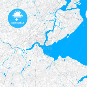 Rich detailed vector map of Perth Amboy, New Jersey, United States of America - HEBSTREITS Sketches