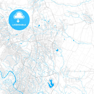 Rich detailed vector map of Pflugerville, Texas, USA - HEBSTREITS Sketches