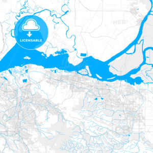 Rich detailed vector map of Pittsburg, California, USA - HEBSTREITS Sketches