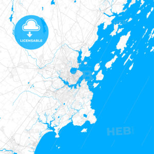 Rich detailed vector map of Portland, Maine, USA - HEBSTREITS Sketches