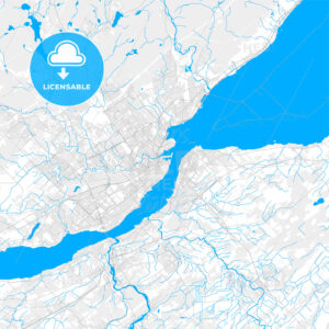 Rich detailed vector map of Quebec City, Quebec, Canada - HEBSTREITS Sketches