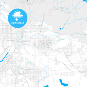 Rich detailed vector map of Redlands, California, USA - HEBSTREITS Sketches